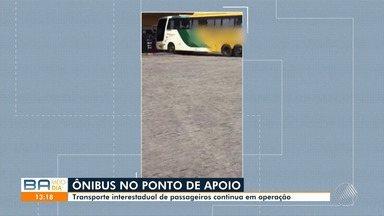Telespectadora tira dúvida sobre ônibus interestadual em ponto de apoio na BR-116 - O veículo estava parada em um ponto de apoio de Feira de Santana. O órgão competente afirmou que transporte do vídeo podia rodar.