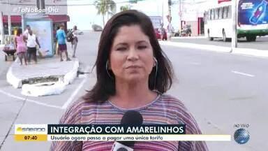 Integração entre os 'Amarelinhos' e transporte público de Salvador começa neste sábado - Usuário agora paga apenas uma passagem ao utilizar cartões de integração.