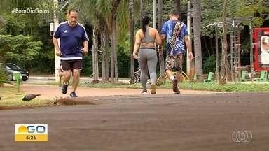 Movimento é pequeno nos parques de Goiânia no 1º domingo da quarentena - Situação é incomum para os finais de semana.