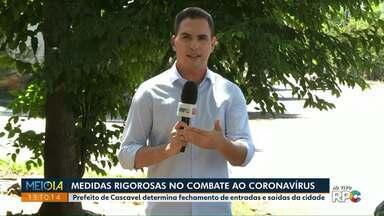 Prefeito de Cascavel determina fechamento de entradas e saídas da cidade - Empresas de Maringá insistem em abrir e são notificadas.