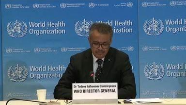 Boletim: OMS afirma que casos de coronavírus subiram para mais de 300 mil - Segundo a Organização Mundial da Saúde, o vírus já atinge quase todos os países do mundo. Diretor-geral disse que a 'pandemia está acelerando'.