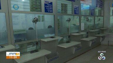 Casas lotéricas mudam a rotina de atendimento ao público por conta do coronavírus - Em Boa Vista, agências bancárias e casas lotéricas mudaram a forma de atender o publico e, para evitar aglomerações, o número de pessoas dentro das unidades está sendo limitado