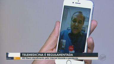 Ministério da Saúde libera atendimento médico pela internet durante a pandemia - Pacientes podem tirar dúvidas e até pedir receitas sem sair de casa.