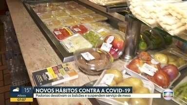 Mercados de bairro se adaptam para não perder clientes - Padarias desativam os balcões e suspendem serviço de mesa