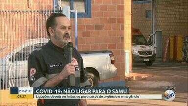 Covid-19: número de chamados cresce no Samu de São Carlos e afeta atendimento - Média diária, que antes era de 120 ligações, passou para 140. Órgão alerta que só atende casos de urgência e emergência, o que não inclui orientações sobre o novo coronavírus.