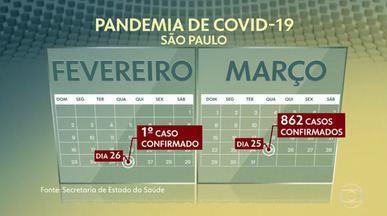 Há um mês, Brasil registrou o primeiro caso do novo coronavírus - O primeiro paciente foi diagnosticado em São Paulo e o estado virou o epicentro da doença no país.