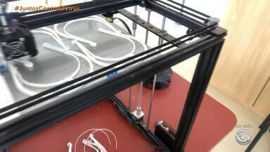 Universidades produzem máscaras de proteção para combate ao coronavírus - Furg e Feevale usam impressora 3D para a confecção dos itens.
