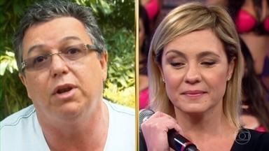 Histórias do Domingão: Boninho lembra começo de Adriana Esteves na tv - A atriz agradece ao diretor pelo início da sua carreira