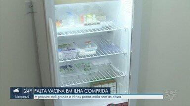 Vacina contra a gripe já acabou em várias cidades do Vale do Ribeira - A procura pela vacina está grande e vários postos estão sem as doses.
