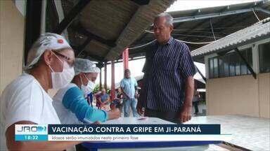 Campanha de vacinação contra gripe começou hoje em Ji-Paraná - Expectativa da Secretaria Municipal de Saúde é imunizar cerca de 9 mil idosos e aproximadamente 2 mil profissionais da saúde.