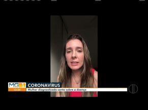 Mulher diagnosticada com coronavírus fala sobre a doença - Jovem de 33 anos é moradora de Timóteo.