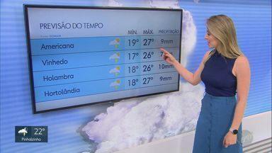 Região de Campinas pode ter chuva forte nesta sexta-feira (3); veja a previsão - Temperaturas devem cair em Americana, Vinhedo, Holambra e Hortolândia.