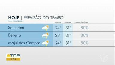 Confira a previsão do tempo para Santarém e região - Saiba qual será a máxima e a mínima para sua região.