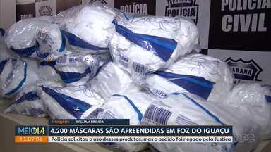 Mais de 4 mil máscaras são apreendidas em Foz do Iguaçu - undefined