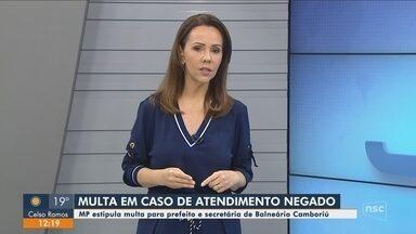 Prefeito de Balneário Camboriú pode ser multado caso hospital negue atendimento, diz MP - Prefeito de Balneário Camboriú pode ser multado caso hospital negue atendimento, diz MP