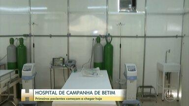 Primeiro hospital de campanha de Minas vai funcionar em Betim - A repórter Luciana Mussi explica quais são os pacientes que serão atendidos no local.