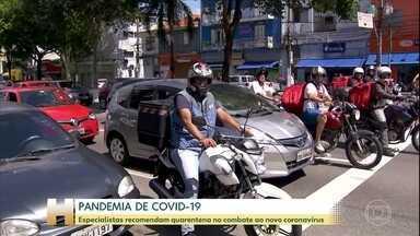São Paulo amanhece com ruas cheias - Especialistas recomendam isolamento para diminuir contágio da doença