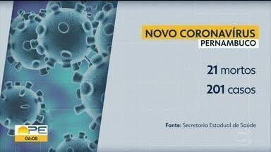 Sobe para 21 mortes e 201 confirmações de Covid-19 em Pernambuco - No final de semana, foi confirmada a primeira morte de um profissional de saúde.