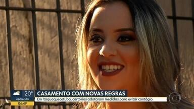 Novas regras para casamento em Itaquaquecetuba - Cartórios da cidade tomaram medidas para evitar aglomerações