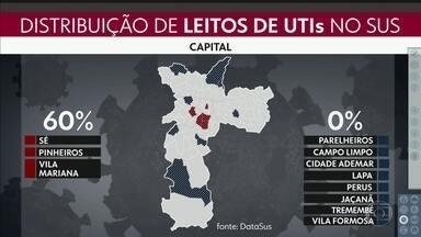60% do leitos do SUS na capital se concentram em 3 distritos - 7 distritos da cidade não têm leito algum da rede pública