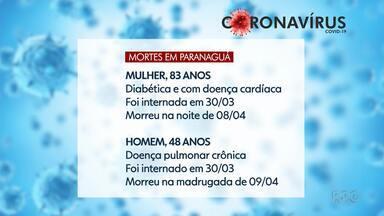 Prefeitura de Paranaguá confirma mais duas mortes por coronavírus - Segundo a Secretaria Estadual da Saúde, 550 pessoas foram infectadas pelo coronavírus no Paraná.