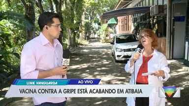 Vacina contra gripe está no fim em Atibaia - Cidade deve receber novas doses na semana que vem.