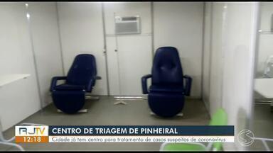 Centro de triagem é montado em Pinheiral para pacientes com suspeita de coronavírus - Trabalho tem como objetivo atender usuários que comparecerem a unidade espontaneamente ou por orientação de postos de saúde.