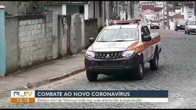 Defesa Civil de Valença vai às ruas alertar população sobre riscos da Covid-19 - Evitar contato físico é a melhor forma de prevenção.
