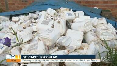 Operação encontra mais de mil embalagens de agrotóxicos descartadas irregularmente no MA - A repórter Ana Paula Cardoso tem mais informações.