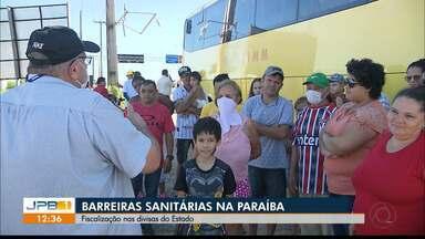 Barreiras sanitárias acontecem na Paraíba - Fiscalização visa evitar proliferação de coronavírus no estado.