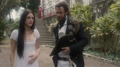 Anna conta a Pedro e Leopoldina que Piatã fugiu - Thomas revela a Dom Pedro que foi nomeado ministro