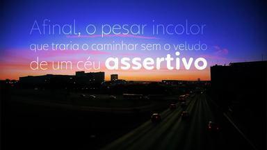 """""""Indigo Blue"""" é o poema que faz homenagem aos 60 anos de Brasília - A autora é Rosa Maria Soares Bugarin, maranhense de 81 anos que se apaixonou pela capital."""