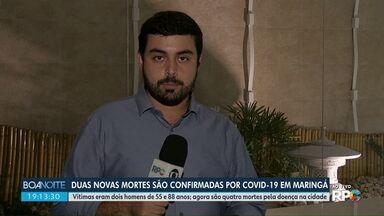 Maringá chega a 4 mortes por Covid-19 - Dois novos óbitos foram confirmados nesta quinta-feira (9).