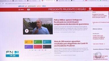 G1 Presidente Prudente e Região atinge recorde de audiência - Portal teve mais de 3,3 milhões de acessos no mês de março de 2020.