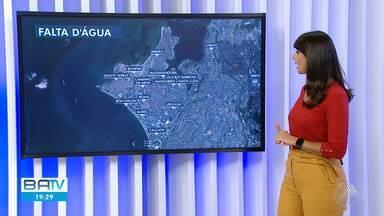 Diversos bairros de Salvador tem problemas no abastecimento de água nesta quinta-feira - A situação foi causada por um vazamento na linha de distribuição no Largo de Roma.