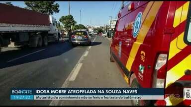 Idosa morre atropelada na Souza Naves em Ponta Grossa - Motorista da caminhonete não se feriu.