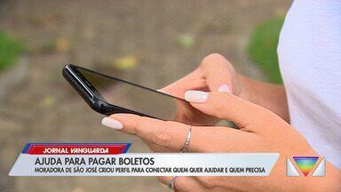 Moradora de São José dos Campos cria rede de ajuda para pagamento de contas - Confira reportagem do Jornal Vanguarda de 09/04/2020.