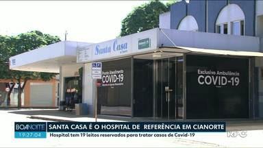 Santa Casa de Cianorte é referência no atendimento ao coronavírus - O hospital tem 6 leitos de UTI prontos para serem utilizados e outros 4 sendo montados, para pacientes de coronavírus.