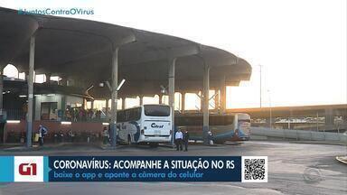 Véspera de feriado tem movimento fraco na rodoviária de Porto Alegre - Empresas de ônibus só podem vender 50% dos assentos.