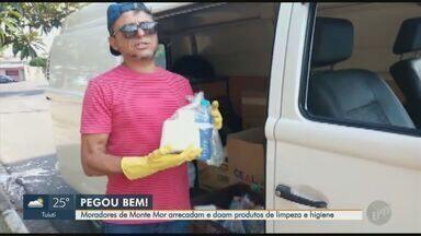"""Voluntários de Sumaré e Monte Mor doam alimentos e produtos de higiene para quem precisa - O quadro """"Pegou Bem"""" mostra ideias para ajudar pessoas necessitadas durante a pandemia da Covid-19."""