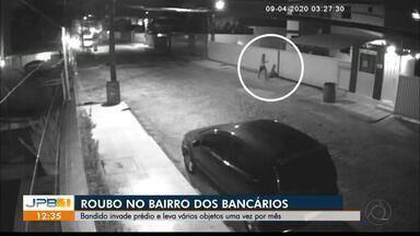Câmeras de segurança mostram assalto no bairro dos Bancários - Insegurança.