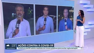 Veja a movimentação em 3 pontos de Belo Horizonte nessa noite de feriado - Nossos repórteres foram até locais considerados turísticos como a Orla da Lagoa da Pampulha, a Praça do Papa e a Praça da Liberdade. Poucos moradores estavam nas ruas.