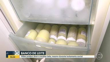 Bancos de leite continuam funcionando, em Minas Gerais. - Mães podem doar e receber leite, mesmo durante isolamento social.