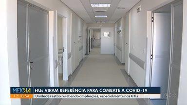 Hospitais Universitários viram referência no combate à Covid-19 - Unidades estão recebendo ampliações, especialmente nas UTIs.