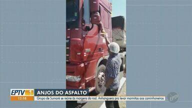 Grupo de Sumaré entrega marmitas a caminhoneiros na Rodovia Anhanguera - Equipe é composta por 20 pessoas que arrecadam alimentos para cozinhar e distribuir aos domingos na estrada.