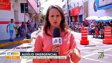 População se aglomera em agências bancárias de Juazeiro do Norte para receber auxílio emer - Saiba mais no g1.com.br/ce