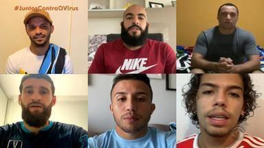 Jogadores gaúchos doam camisetas para arrecadar doações - Assista ao vídeo.