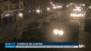 Associação Comercial do Paraná pede a reabertura das lojas na capital - A carta foi encaminhada ao prefeito, Rafael Greca.