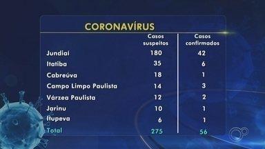 Confira os casos suspeitos e confirmados de coronavírus na região de Jundiaí - Secretaria de saúde de Jundiaí (SP) registrou a terceira morte de coronavírus nesta terça-feira (14).
