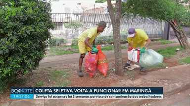Coleta seletiva volta a funcionar em Maringá - Serviço foi suspenso há 3 semanas por risco de contaminação dos trabalhadores.